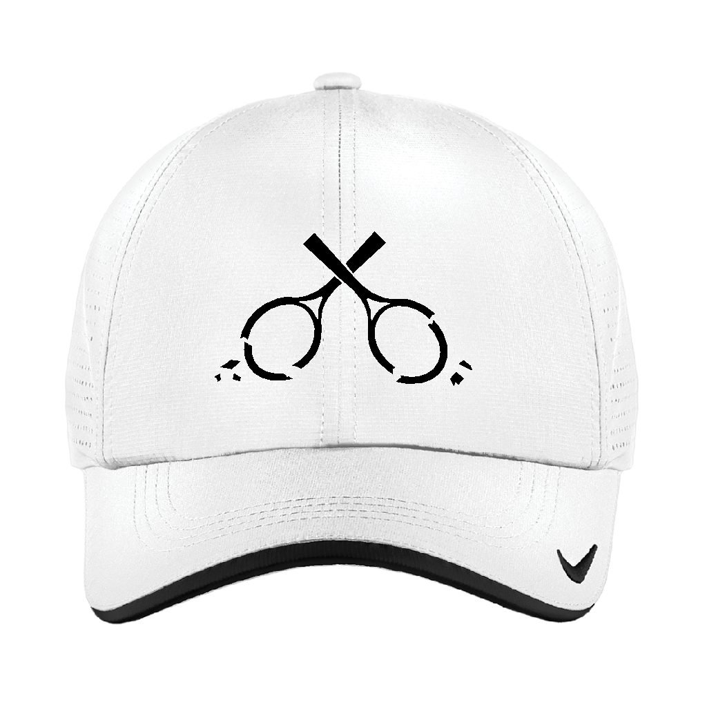 Cracked Racquets Logo Hat (White)